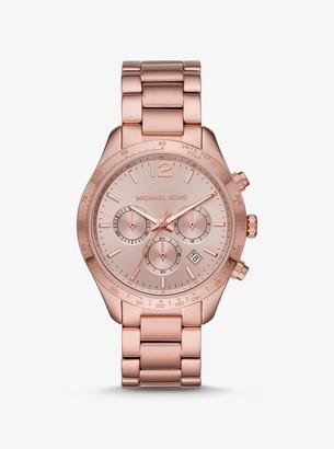 Michael Kors Oversized Layton Pale Rose Gold-Tone Watch