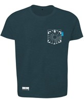 Anchor & Crew Steel Blue Explorer Print Organic Cotton T-Shirt Mens