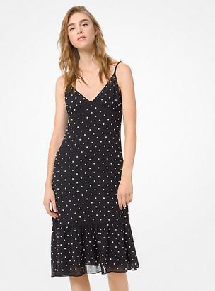 Michael Kors Grommeted Georgette Slip Dress