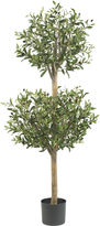Asstd National Brand Nearly Natural 4.5-ft. Olive Double Topiary Silk Tree
