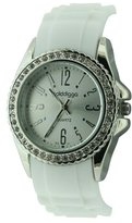 Golddigga Women's Quartz Watch with Silver Dial Analogue Display and White Strap DIG31/A