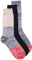Aston Grey Men's Colorblock Dress Socks - 3 Pack -Multicolor
