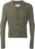 Maison Margiela ribbed V-neck cardigan - men - Cotton/Wool - S