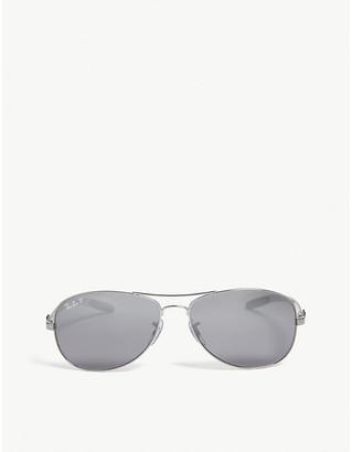 Ray-Ban Ladies Grey Durable Rb8301 Tech Aviator Sunglasses