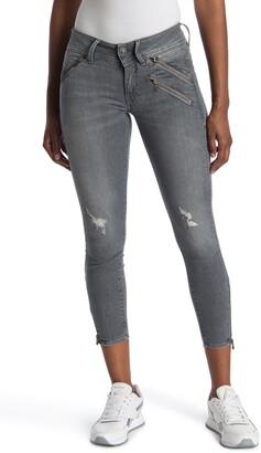 Lynn Biker Mid Skinny Ankle Jeans
