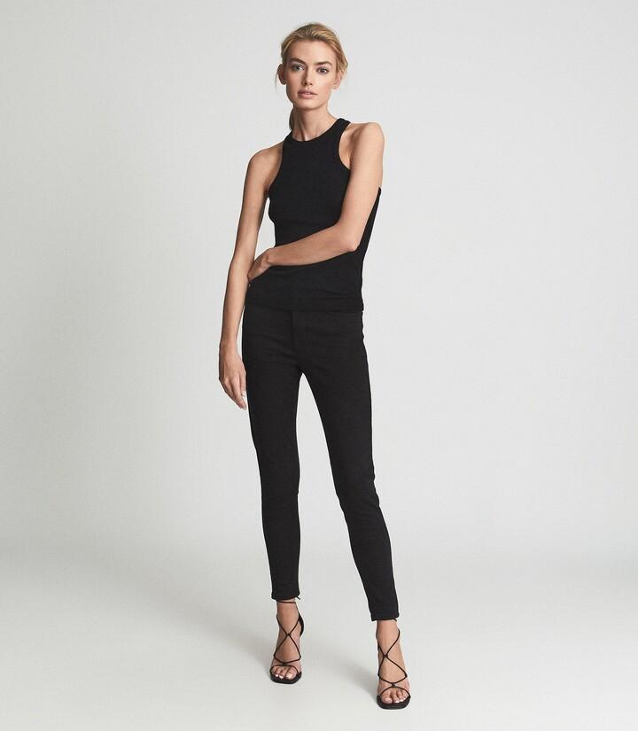 Reiss Lux - Mid Rise Skinny Jeans in Black