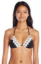 O'Neill Women's Solids Crochet Tri Bikini Top
