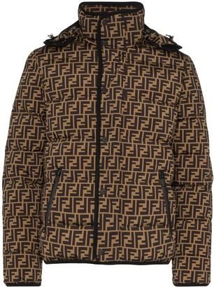 Fendi FF logo print puffer jacket