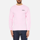 OBEY Clothing Men's Mother Earth Long Sleeve TShirt - Pink