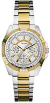 GUESS Gold and Silver-Tone Dynamic Feminine Midsize Sport Watch