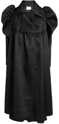 Kika Vargas Puff-Sleeve Overcoat