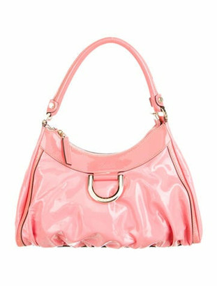 Gucci Patent Leather Medium D-Ring Hobo Coral