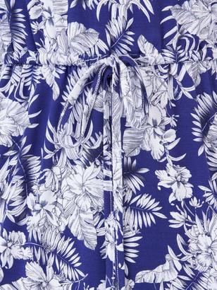 Very Bardot Channel Waist Jersey Midi Dress - Navy Print
