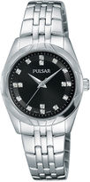 Pulsar Ladies Night Out Womens Crystal Accent Bracelet Watch