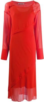 Acne Studios Georgette bias-cut dress