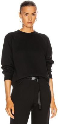 John Elliott Women's Vintage Fleece Crew Sweatshirt in Black | FWRD