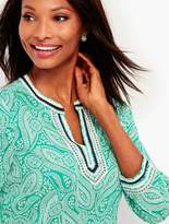 Talbots Embroidered Paisley-Print Tunic
