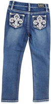 ZCO Light Blue Fleur-de-Lis Straight-Leg Pants - Toddler & Girls