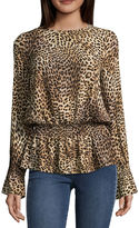Libby Edelman Long Sleeve Peasant Top
