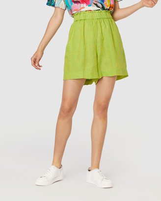 gorman Women's Green Chino Shorts - Sorbet Shorts - Size One Size, 6 at The Iconic