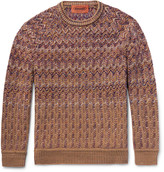 Missoni - Chevron-knitted Wool-blend Sweater