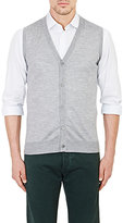 Isaia Men's Button-Front Vest-GREY