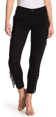 7 For All Mankind Ankle Skinny Side Paneling Jeans
