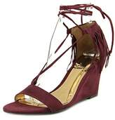 Carlos by Carlos Santana Sandy Open Toe Suede Wedge Sandal.