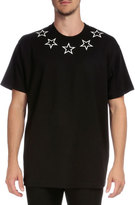 Givenchy Colombian Star-Collar Short-Sleeve T-Shirt, Black