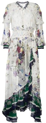 Camilla Gentle Moon Print Blouson wrap dress