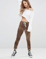 Glamorous Skinny Sweat Pants In Tye Dye