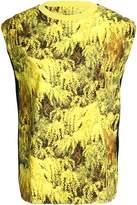 Vionnet Paneled Printed Cotton-Jersey Top