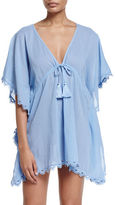 Seafolly Crochet-Trim Caftan Coverup