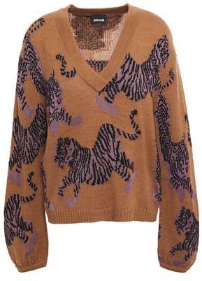 Just Cavalli Intarsia-knit Sweater
