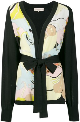 Emilio Pucci floral panel belted cardigan