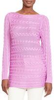 Lauren Ralph Lauren Petite Cable-Knit Cotton Sweater