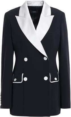 Joseph Double-breasted Two-tone Satin-crepe Blazer
