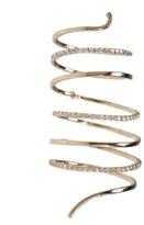 White Diamond Spiral Ring