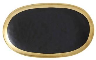 Maxwell & Williams Swank Platter 30 x 18cm Black/Gold