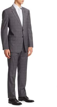 Armani Collezioni Checkered Wool Suit