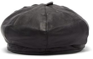 Our Legacy Leather Beret - Mens - Black