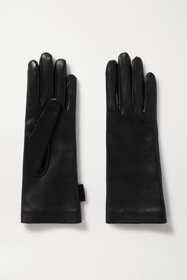 Balenciaga Leather Gloves - Black