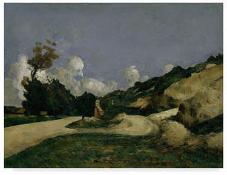 "Country Road Paul Cezanne 'The Country Road' Canvas Art - 24"" x 18"""