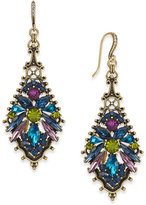 INC International Concepts Anna Sui x Gold-Tone Multi-Crystal Drop Earrings, Created for Macy's