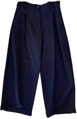Studio Nicholson Navy Wool Trousers