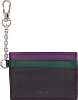 Versace Tricolor Clip-on Chain Card Holder