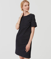 LOFT Petite Striped Short Bell Sleeve Dress