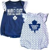 Reebok Toronto Maple Leafs Newborn Girls Polka Fan 2-Pack Bodysuit Set