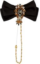 Dolce & Gabbana Bow crystal-embellished brooch
