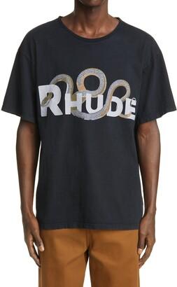 Rhude Snake Logo Graphic Cotton Tee
